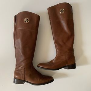 Tory Burch brown leather riding boots 7.5 M